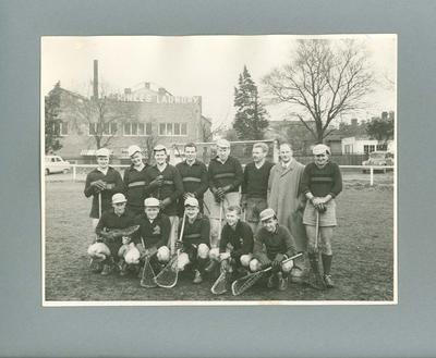 Photograph of Melbourne High School Old Boys lacrosse team, c1962