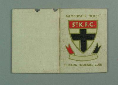Membership ticket, St Kilda FC 1946