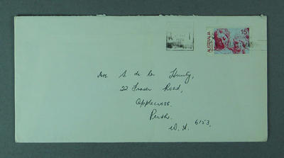 Envelope addressed to Shirley Strickland, 17 Dec 1976
