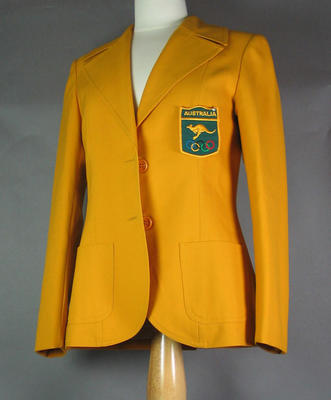 Australian team blazer, worn by Shirley Strickland at 1976 Olympic Games