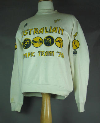 Australian team jumper, worn by Shirley Strickland at 1976 Olympic Games