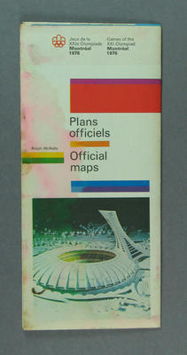 Map of Montreal, 1976 Olympic Games
