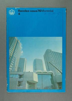 "Magazine, ""Rendez-vous 76 Montreal"" no 4"