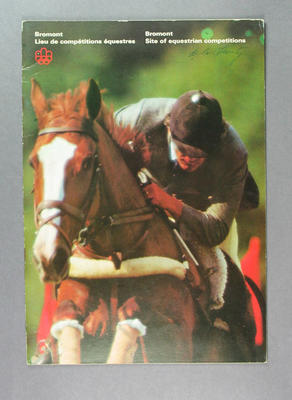 Book, 1976 Olympic Games Bromont - Site of equestrian competitions
