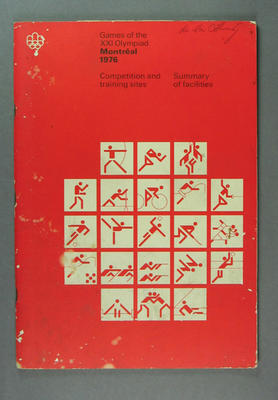 Book, 1976 Olympic Games Summary of Facilities
