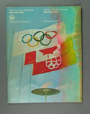 Programme, 1976 Olympic Games Opening Ceremony