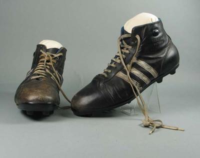 Football boots worn by Murray Weideman, c1960s