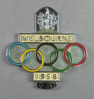 Official car badge - Melbourne 1956 Olympic Games