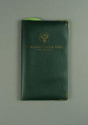 Australian Cricket Diary, 1987-88; Documents and books; 1988.1885.7