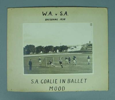 Photograph taken during Western Australia v South Australia lacrosse match, 1939
