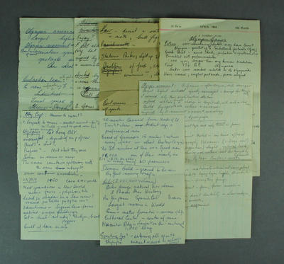 Handwritten notes, discussing staging of 1968 Olympic Games