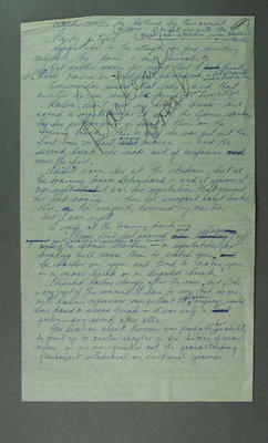Handwritten notes regarding Raelene Boyle's disqualification, 1976 Olympic Games