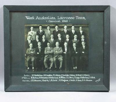 Photograph of West Australian lacrosse team, 1929