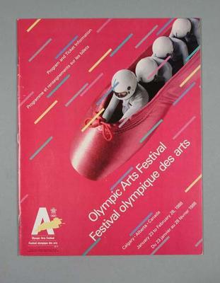 Programme - 'Olympic Arts Festival' Calgary 23 January - 28 February 1988; Documents and books; 2004.4140.31