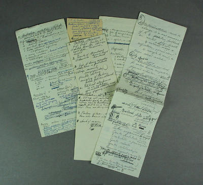 Handwritten notes discussing Olympic Games and Shirley Strickland's coaching, undated