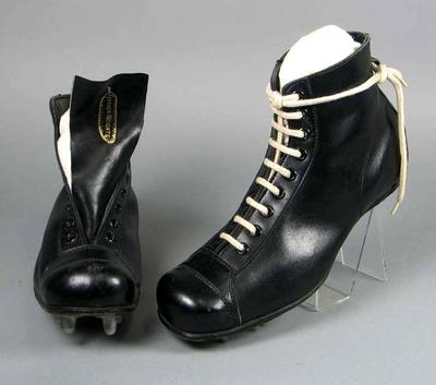 Pair of AJ Culhane Feather-weight football boots, c1950s