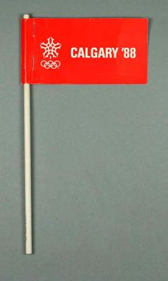 Flag - ' Calgary '88' - XV Winter Olympic Games