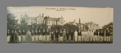 "Photograph:  ""Victoria v. North Otago, March 1925""; Photography; M7421"