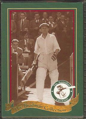 1995 Sanitarium (Weet-Bix) The Bradman Collection trade card 18/20