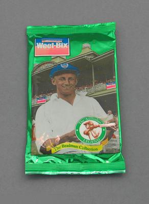 Sealed packet, 1995 Sanitarium (Weet-Bix) The Bradman Collection trade cards