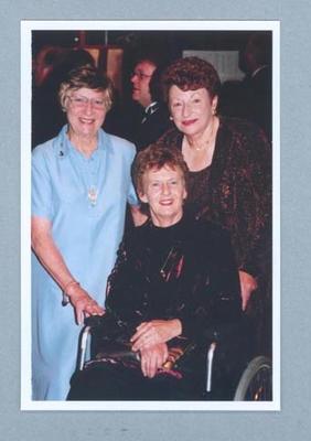 Photograph of Shirley Strickland, Betty Cuthbert & Marjorie Jackson, undated