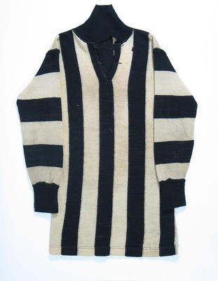 Collingwood Football Club guernsey, worn by Percy Bowyer in the 1930 VFL Grand Final