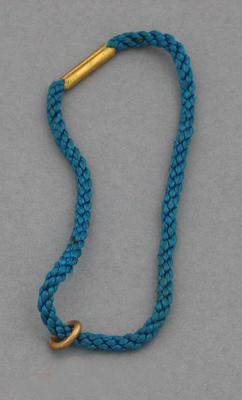 Cord strap for Melbourne Cricket Club medallion, 1951-52