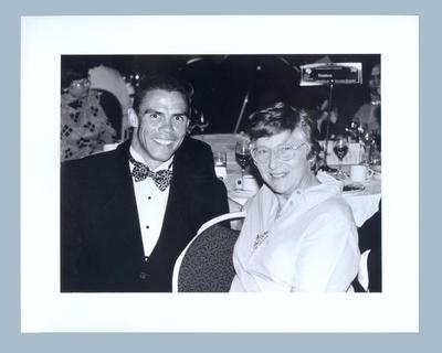 Photograph of Shirley Strickland with Kyle Vander Kuyp, undated