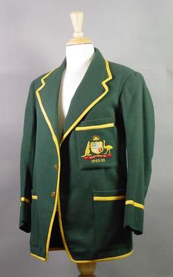 Blazer worn by Neil Harvey, Australian cricket tour of South Africa 1949-50