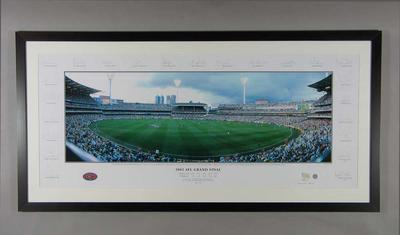 Panoramic photograph of Melbourne Cricket Ground, 2002 AFL Grand Final