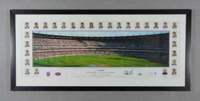 Panoramic photograph of Melbourne Cricket Ground, 2003 AFL Grand Final