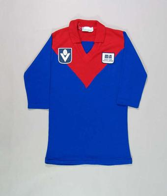 Melbourne FC guernsey, worn by Robert Flower c1978-83