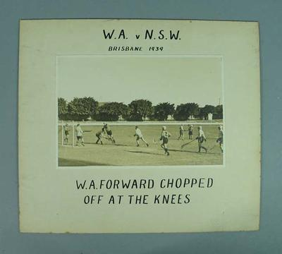 Photograph - Western Australia v NSW, Lacrosse,  Brisbane 1939