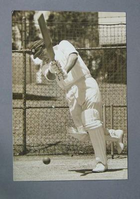 Photograph - Peter Burge practising in the nets