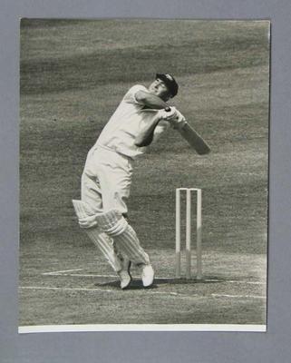 Peter Burge batting, 2nd Test, England v Australia, Lord's, 26 June 1961