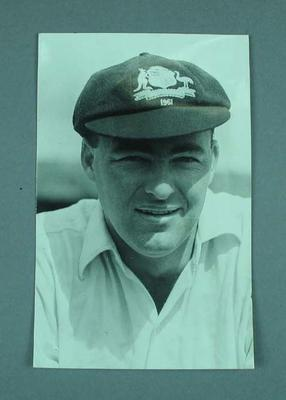 Photograph of Australian cricketer Peter Burge during 1961 Ashes Tour of England
