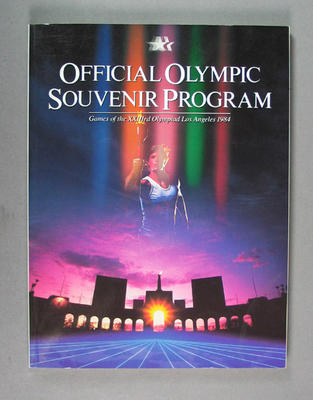 Programme, 1984 Los Angeles Olympic Games