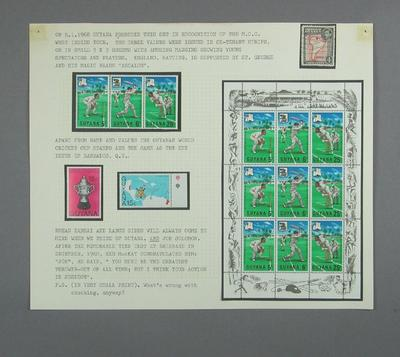 Stamps issued by Guyana, cricket related