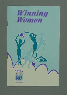 """Booklet, """"Winning Women"""" c1991"""