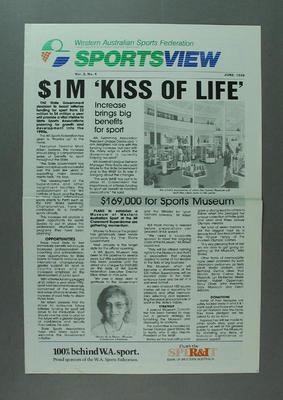 "Newsletter, ""Sportsview"" vol3 no4 June 1988"