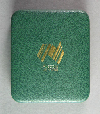 Presentation case for commemorative medallion, Australian Bicentenary 1788-1988