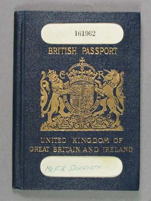Passport issued to Fred Spofforth, 1924