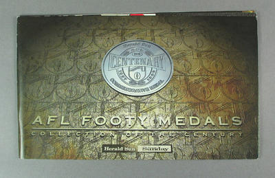 Booklet, AFL Centenary Footy Medals 1996
