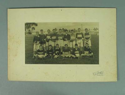 Photograph of Coburg Lacrosse Club, circa early 20th century