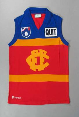 Proposed Fitzroy Bulldogs Football Club amalgamation guernsey, 1989