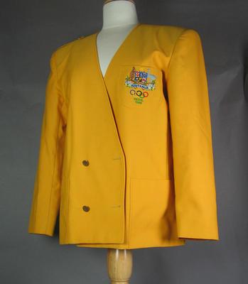 Australian team blazer worn by Shirley Strickland, 1988 Seoul Olympic Games
