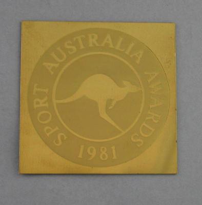 Coaster, Sport Australia Awards 1981