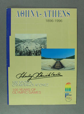 Booklet, Athens 1896-1996 100 Years of Olympic Games