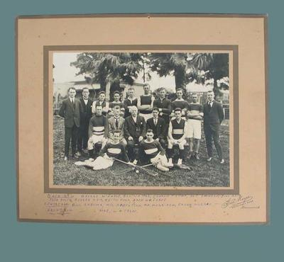 Photograph of Coburg Lacrosse Club, circa early 20th century