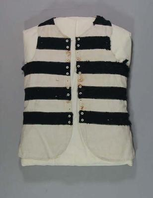 Geelong FC jerkin, worn by Edward 'Carji' Greeves c1920s